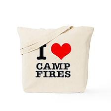 I Heart (Love) Camp Fires Tote Bag