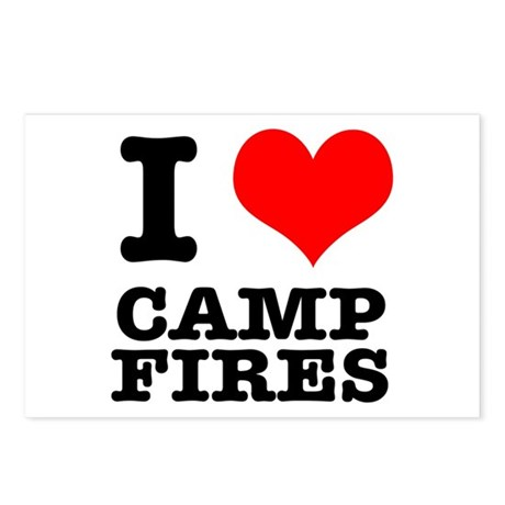 I Heart (Love) Camp Fires Postcards (Package of 8)