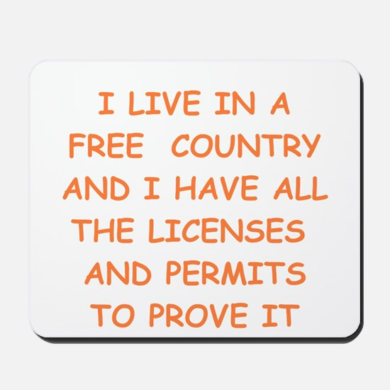 FREE country Mousepad