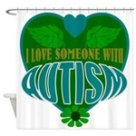 love of autism Shower Curtain