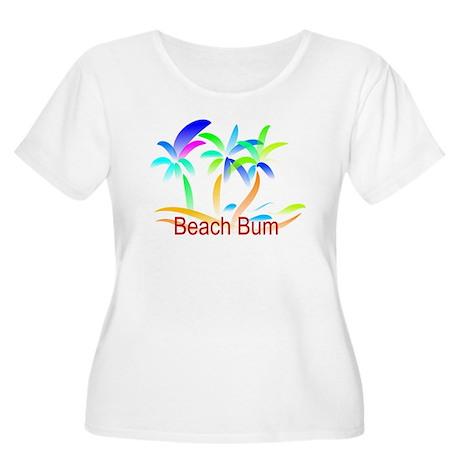 Beach Bum Women's Plus Size Scoop Neck T-Shirt