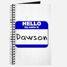 hello my name is dawson Journal