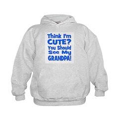 Think I'm Cute? Grandpa Blue Hoodie