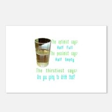 Half Full Half Empty Thirsty Postcards (Package of