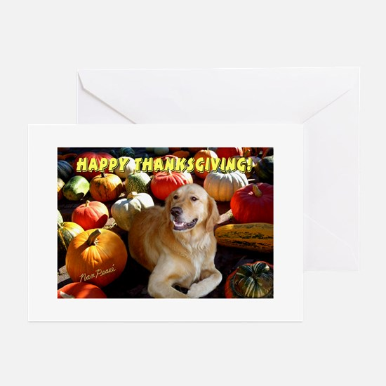 Golden Retriever Thanksgiving Greeting Cards (Pack