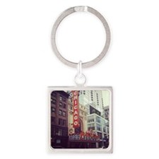 Chicago Theater  Square Keychain