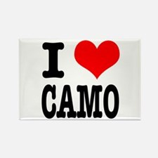 I Heart (Love) Camo Rectangle Magnet