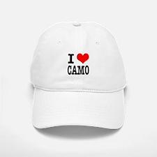 I Heart (Love) Camo Baseball Baseball Cap