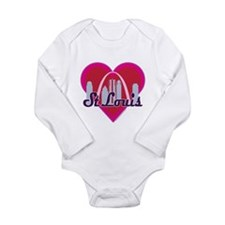 St Louis Skyline Heart Body Suit