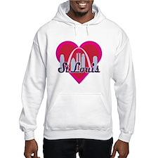 St Louis Skyline Heart Hoodie