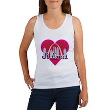 St Louis Skyline Heart Tank Top