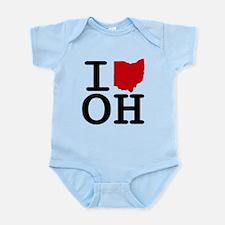I Heart Ohio Body Suit
