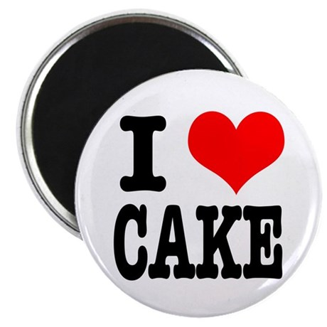 I Heart (Love) Cake Magnet