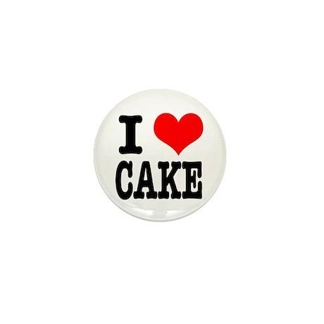 I Heart (Love) Cake Mini Button