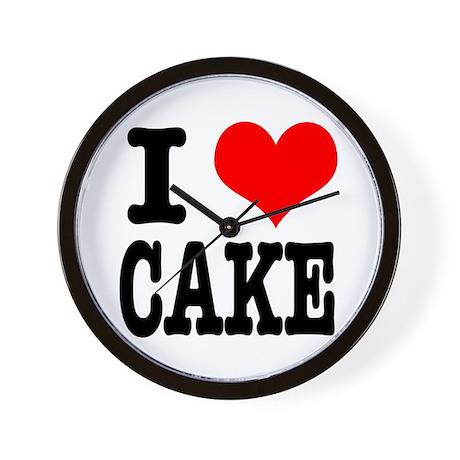 I Heart (Love) Cake Wall Clock