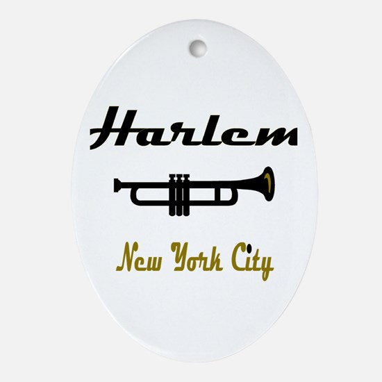 """""""Click Here for Harlem Music  Oval Ornament"""