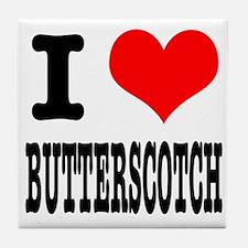 I Heart (Love) Butterscotch Tile Coaster