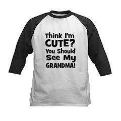 Think I'm Cute? Grandma Black Tee