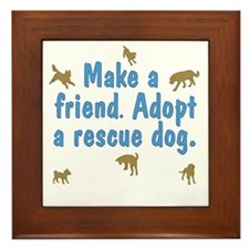 Adopt a Rescue Framed Tile
