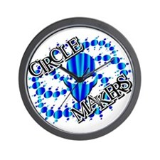 Alien Circle Makers Aqua Blue Wall Clock