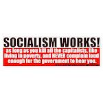 SOCIALISM WORKS! Political Bumper Sticker