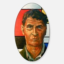 Wittgenstein Sticker (Oval)