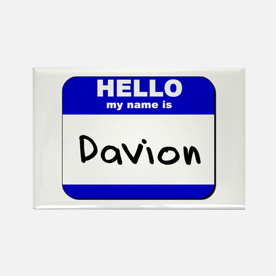 hello my name is davion Rectangle Magnet