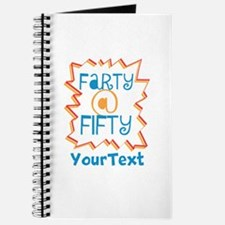 Personalized Farty at Fifty Journal
