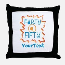Personalized Farty at Fifty Throw Pillow