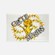 Alien Circle Makers Dark Yellow Rectangle Magnet