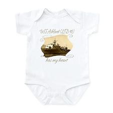 Cool Navy fiancee Infant Bodysuit