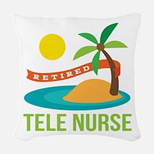 Retired Tele Nurse Woven Throw Pillow