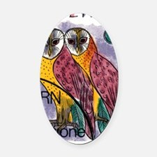 Vintage 1991 Switzerland Owls Post Oval Car Magnet