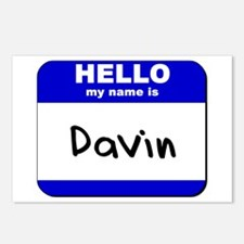 hello my name is davin  Postcards (Package of 8)