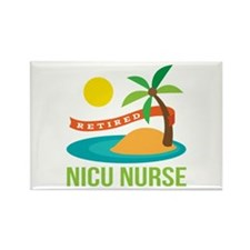 Retired NICU Nurse Rectangle Magnet