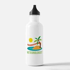 Retired Meteorologist Water Bottle