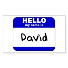 hello my name is david Rectangle Decal