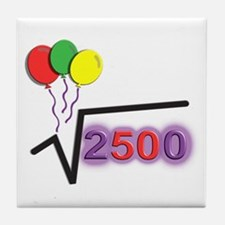 Funny Square Root 50th Birthday © Tile Coaster