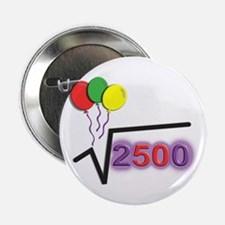 "Funny Math 50th Bday © 2.25"" Button (10 pack)"