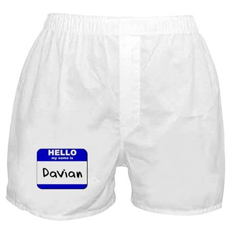 hello my name is davian Boxer Shorts