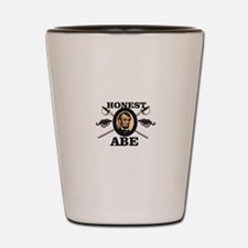 honest abe cannon Shot Glass