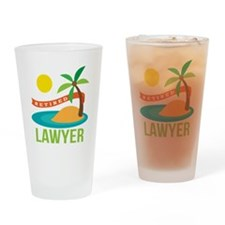 Retired Lawyer Drinking Glass