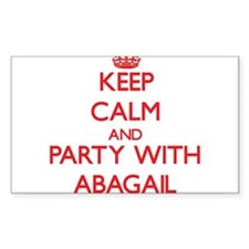 Keep Calm and Party with Abagail Decal