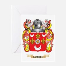 Ludden Coat of Arms - Family Crest Greeting Card