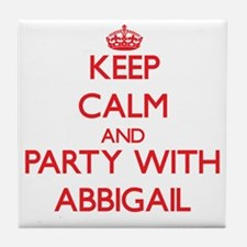 Keep Calm and Party with Abbigail Tile Coaster