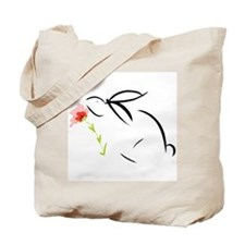 Bunny and flower Tote Bag