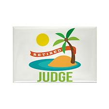 Retired Judge Rectangle Magnet