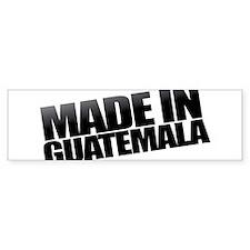 GUATEMALA BLACK Bumper Bumper Sticker