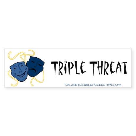 Theatre Masks 3T Bumper Sticker