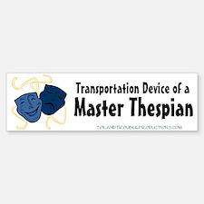 Theatre Masks Thespian Bumper Bumper Bumper Sticker